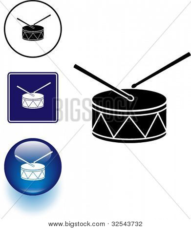 drum symbol sign and button