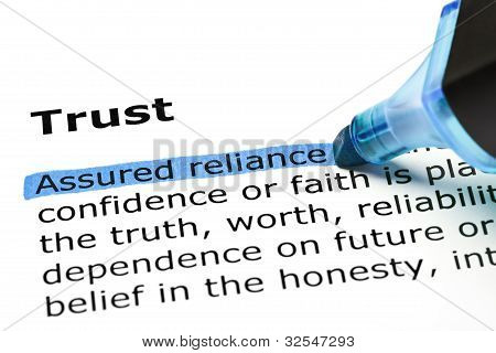 Trust With Blue Marker