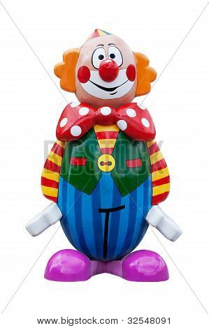 The Wooden Painted Clown