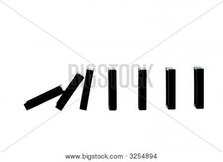 Row Of Falling Dominoes