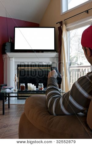 Man Watches TV