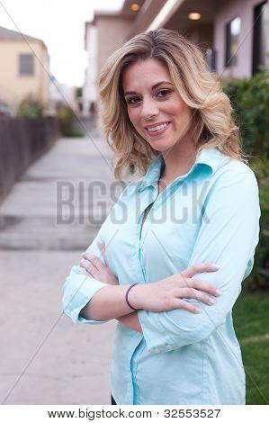 Attractive Female Real Estate Agent