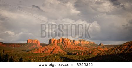 Stormy View Of Sedona Hills