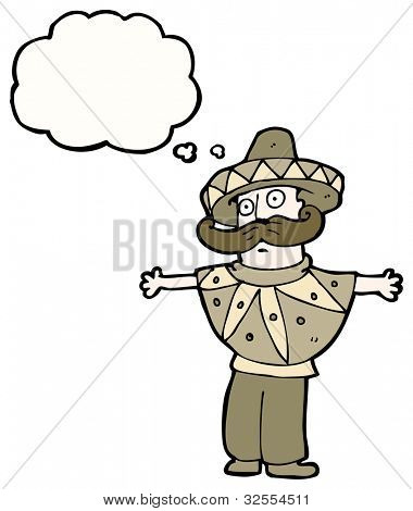man in mexican costume cartoon