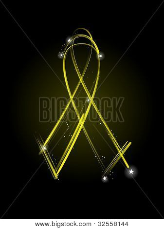 Yellow Veteran's Ribbon