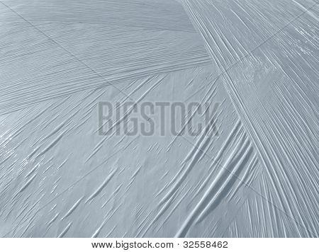 Wrapped White Plastic Foil Detail