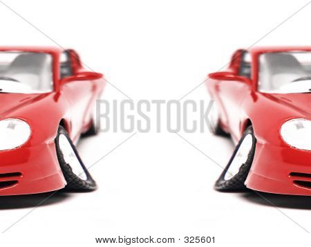 Red Sport Car - Half