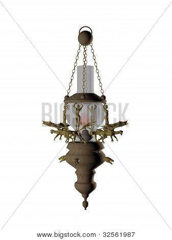 Old Lamp In 3D.