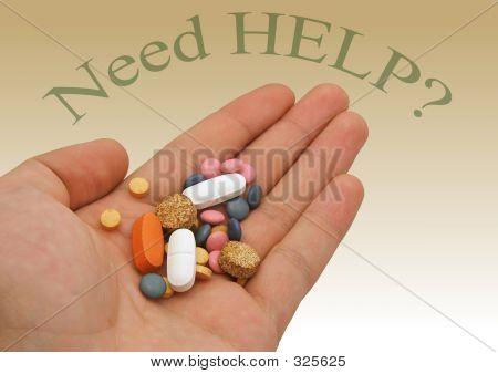 Drogen in der hand mit Hintergrund