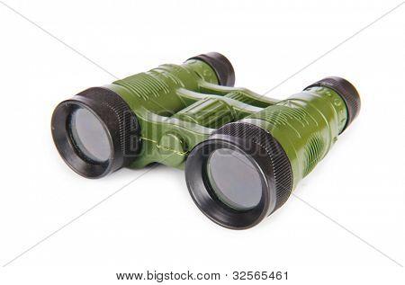 Military binoculars isolated on white