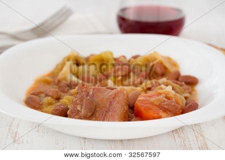 Feijoada Portuguesa In The White Plate