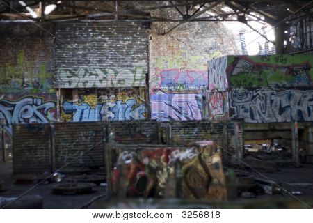 Graffiti Covered Slums