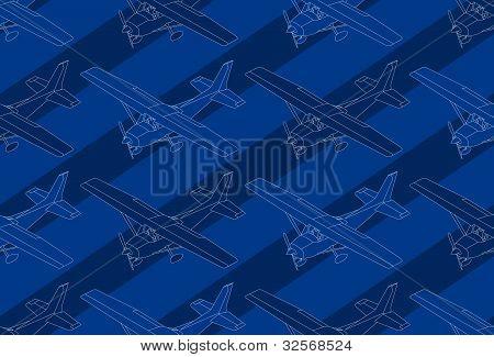 Pattern Of A Isometric Ultralight Plane