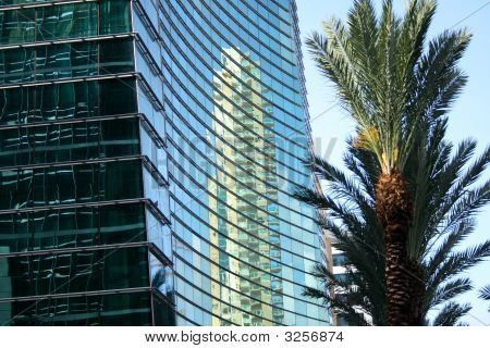 Reflection On A Glass Building