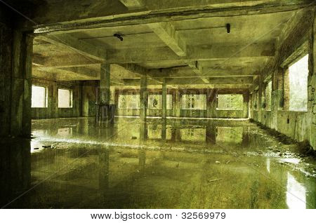 Horror Raining Room Abandoned