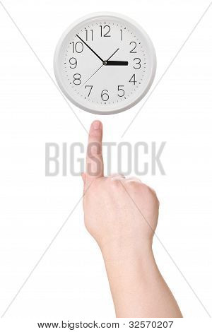 Finger Points To The Clock