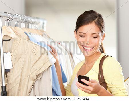 Compras de mulher moderna