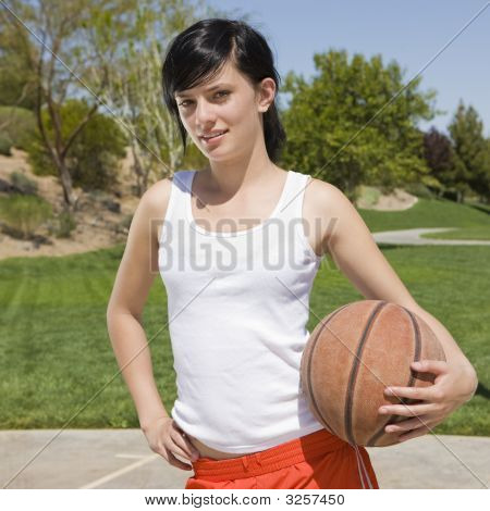 Teen With Basketball