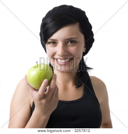 Girl With Apple Smiles