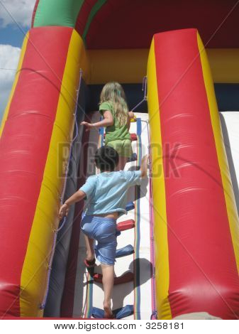Kids Climbing Stairs