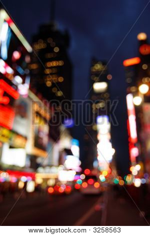 Times Square Abstract, Nyc
