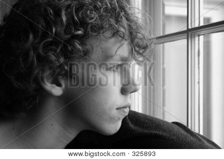 Teen At The Window