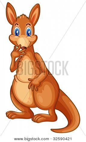 Illustration of a cartoon character kangaroo