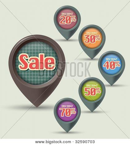 set of Sale label