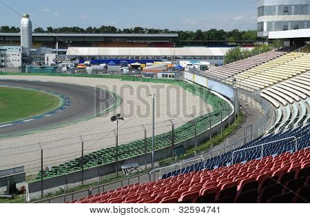 Racetrack Tribune At Summer Time