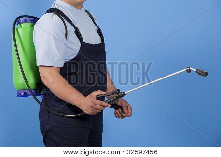 spraying pest