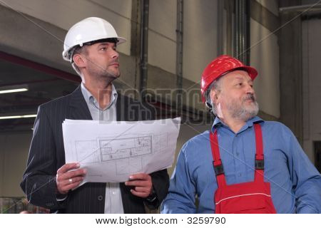 Architect And Senior Worker