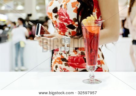 A Glass Of Cocktail And A Sexy Girl