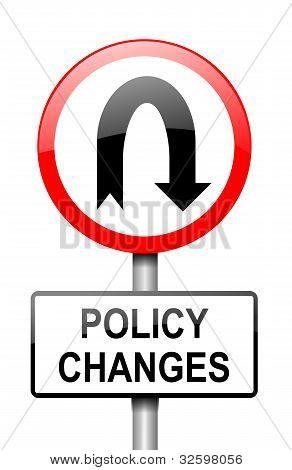 Mudança de política.