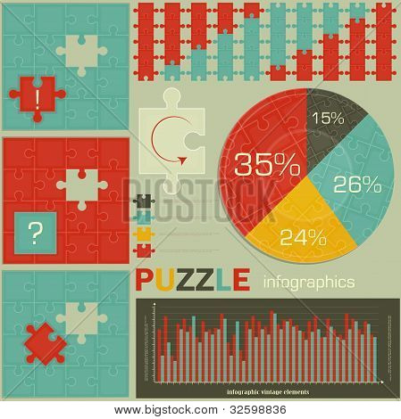 Elements Of Puzzle For Infographic