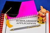 Application For The Scholarship. Scholarship-salary, Salary, Financial Assistance To Pay Tuition Or  poster