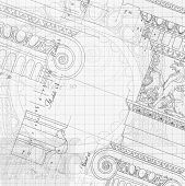 stock photo of ionic  - Blueprint  - JPG