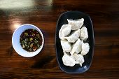 Chinese Dumpling, Dumpling Or Steamed Wonton With Dip poster