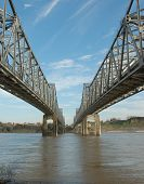 picture of natchez  - Mississippi River Bridge from Vidalia Louisiana to Natchez MS - JPG