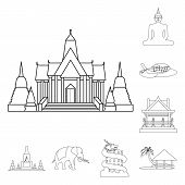 Vector Illustration Of Landmark And Culture Icon. Set Of Landmark And Tourism Stock Vector Illustrat poster