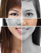 Постер, плакат: Коллаж из разных женщин лица