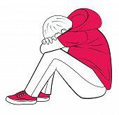 Sad And Depressed Teenager poster