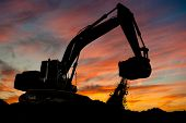 stock photo of excavator  - track - JPG