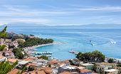 Aerial View Of Baska Voda Village, Beautiful Croatian Coast Seascape poster