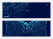 Abstract Tech Visuals. Digital Technology Background. Artificial Intelligence, Deep Learning And Big poster