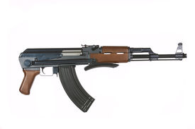 image of ak-47  - AK 47 Rifle on a white background - JPG