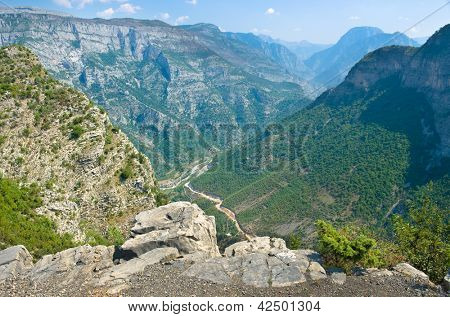 Cemi Canyon from Lagjja e Re Pass, Kelmend Valley - Albania