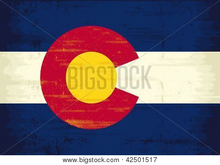 Grunge Flag of Colorado. The flag of Colorado with a texture for you. Enjoy !