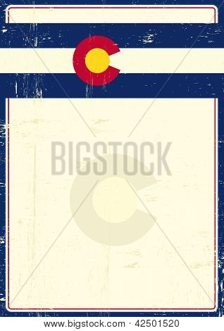 Colorado grunge poster. write your message on this poster.