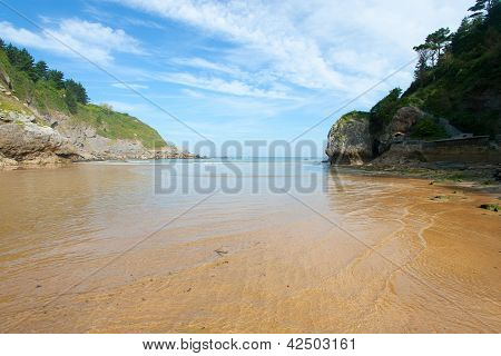 Beach Of Ea, Bizkaia, Basque Country, Spain