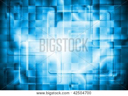 Colorful blue squares design. Vector tech background eps 10